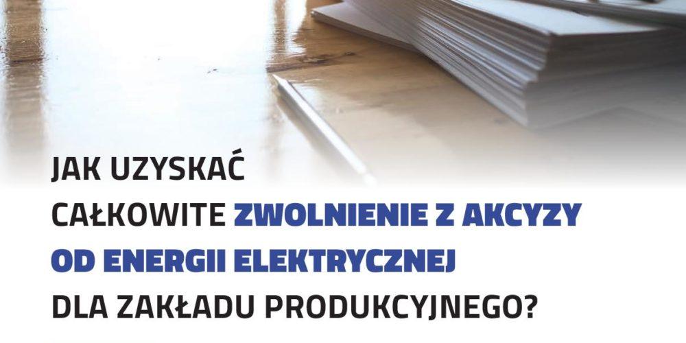 """Zwolnienie energii elektrycznej z akcyzy – artykuł """"Utrzymanie Ruchu 2/2018"""""""