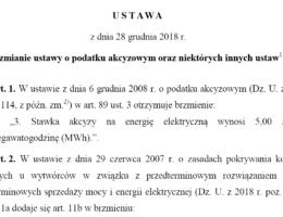 Ustawa prądowa – prawo do renegocjacji i obniżki cen energii elektrycznej