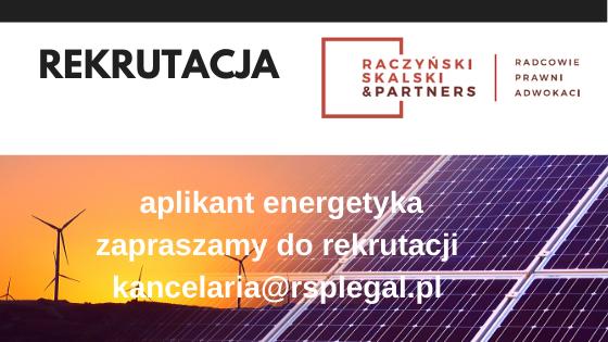 Rekrutacja prawnik prawo energetyczne