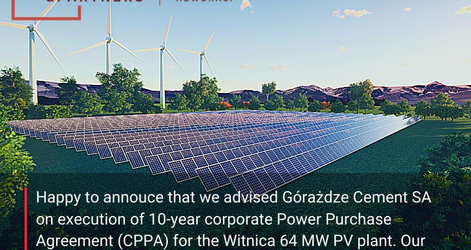 Doradzaliśmy przy największej umowie Corporate PPA w Polsce